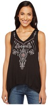 Roper 1009 Sweater Jersey Tank Top with Embroidery Women's Sleeveless