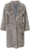 Simonetta Ravizza shearling coat - women - Polyamide/Viscose/Wool - 42