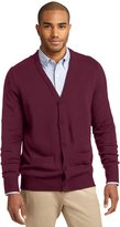 Port Authority Men's Value V Neck Cardigan with Pockets M Charcoal Grey