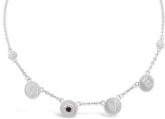 "Judith Ripka Sterling Diamonique & Gemstone ""Love"" Necklace"