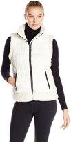 Calvin Klein Women's Sherpa Trimmed Quilted Puff Vest
