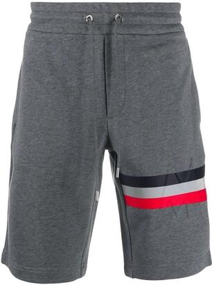 Moncler Tri-Coloured Stripe Track Shorts
