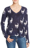 Aqua Cashmere Chaos Skull Cashmere Sweater