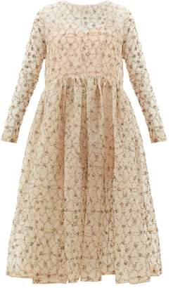 Ashish Amira Sequinned Organza Dress - Womens - Beige
