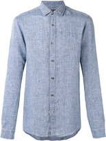 Michael Kors chambray shirt - men - Linen/Flax - M