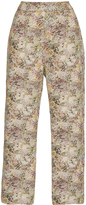 Isa Arfen Classic Abstract Field Cropped Pants