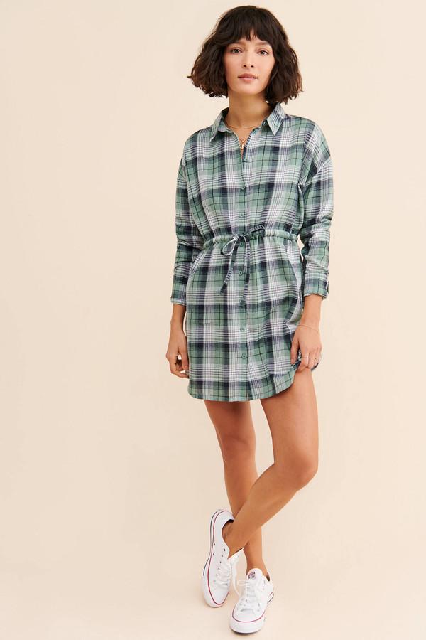 Daisy Street Plaid Shirt Dress