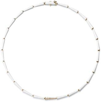 Melissa Kaye 18kt yellow gold and diamond Lola linked necklace