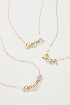 Spell It Out Pendant Necklace By Atelier Paulin in Gold