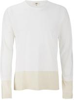 Ymc Block Long Sleeve Tshirt - Cream