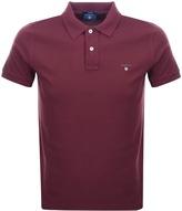 Gant Oxford Pique Rugger Polo T Shirt Red