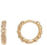 Vince Camuto Crystal Stud Small Hoop Earrings