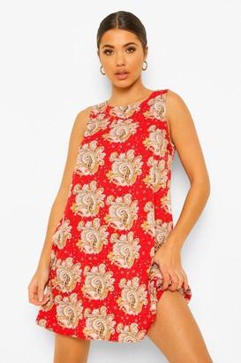 boohoo Paisley Print Shift Dress