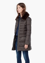 Mango Outlet Faux Fur Padded Coat