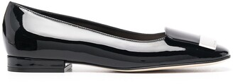 Sergio Rossi Square Toe Ballerina Flats