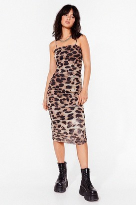 Nasty Gal Womens Bye For Meow Leopard Maxi Dress - Brown