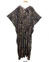 FIONALISSA Women Korean Soft Viscose Knit Print Long Caftan/Dress (Satin Label). One