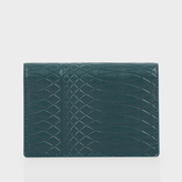 Paul Smith No.9 - Petrol Leather Credit Card Wallet
