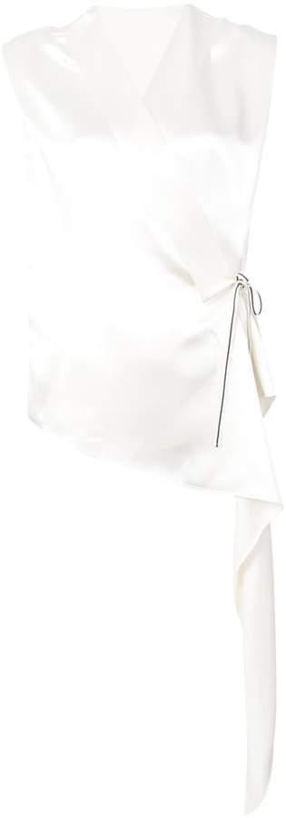 Petar Petrov asymmetric wrap-front blouse