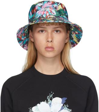 Kenzo Black Vans Edition Floral Bucket Hat