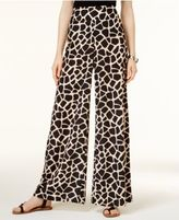 Bar III Giraffe-Print Wide-Leg Pants, Only at Macy's