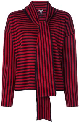 Loewe scarf striped jumper