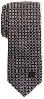 Givenchy Black & Red Jacquard Silk Tie