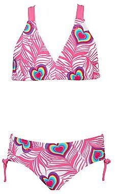 JCPenney I Heart Feathers 2-pc. Swimsuit - Girls 4-6x