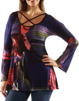 24/7 Comfort Apparel Leading Lady Criss Cross Tunic Top