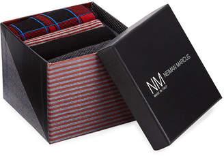 Neiman Marcus Plaid 4-Pack Printed Socks Gift Box