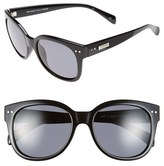 Le Specs Women's 'Mad About You' 55Mm Sunglasses - Black/ Polarized Smoke