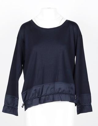 Lamberto Losani Deep Blue Cashmere and Silk Women's Sweater