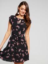 Portmans Rosebud Petal Sleeve Tea Dress