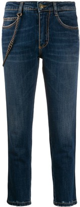 Ermanno Scervino Skinny Fit Chain Detail Jeans