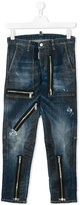 DSQUARED2 Teen zip detail jeans