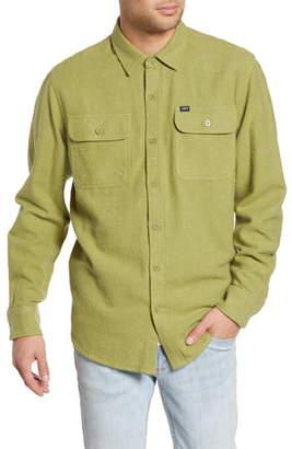 Obey Jasper Neppy Button-Up Flannel Shirt