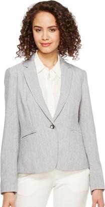 Tahari by Arthur S. Levine Women's Melange One Button Blazer