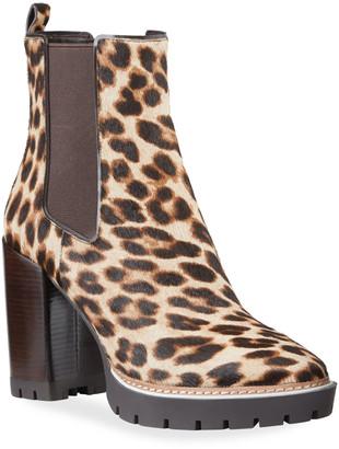 Tory Burch Miller Leopard Calf Hair Booties