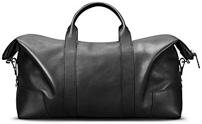 Shinola Large Leather Carryall Duffel Bag