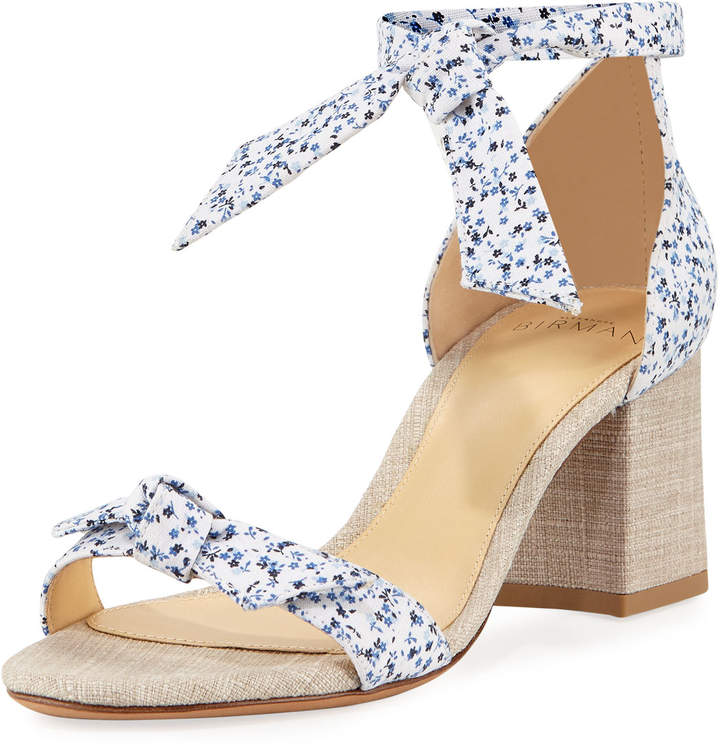Alexandre Birman Clarita Printed Fabric 60mm Sandal