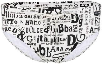Dolce & Gabbana Logo-Print Swimming Trunks