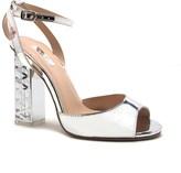Qupid Clear Heel Single Strap Sandal