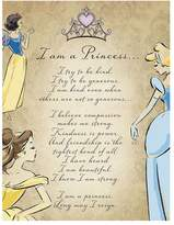 "Artissimo Disney Princess ""I Am A Princess"" Glitter Canvas Wall Art"