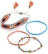 Aqua Larken Beaded Bracelets, Set of 4 - 100% Exclusive