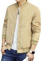 BINGKA Mens Bomber Jacket Softshell Sportswear Lightweight Slim Jacket Coat