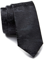 HUGO BOSS Textured Striped Skinny Silk Tie