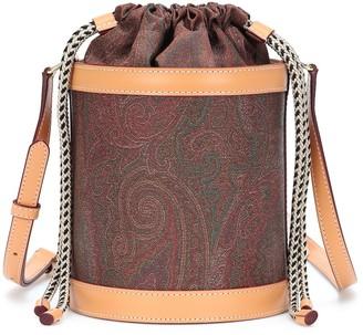 Etro Printed canvas bucket bag