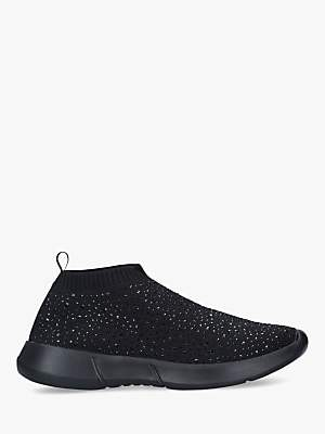 Carvela Comfort Cambrie Embellished Sock Trainers, Black