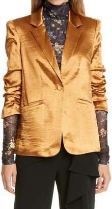 Cinq à Sept Kylie Hammered Satin Jacket