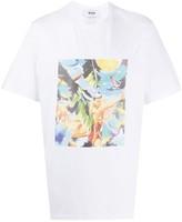 MSGM graphic-print boxy T-shirt
